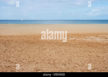 View out to the Atlantic from a beach on Sal, Cape Verde - Stock Photo