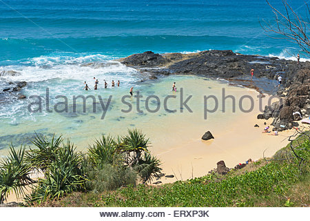 Champagne pools, Fraser Island, Queensland, Australia, - Stock Photo