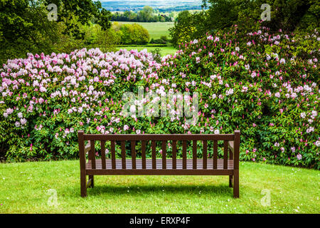 View from the mausoleum of the Bowood Estate over the landscape of Wiltshire. - Stock Photo