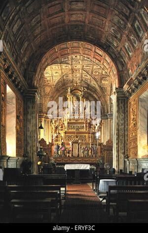 Inside Se cathedral in 1776 ; Old Goa ; Velha Goa ; India - Stock Photo