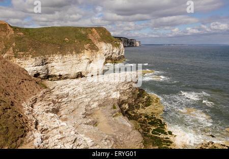 Coastline viewed from Thornwick Bay, Flamborough, Bridlington, Yorkshire, England - Stock Photo