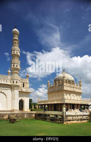 Gumbaz mausoleum of tipu sultan ; Srirangapatna ; Mysore ; Karnataka ; India - Stock Photo