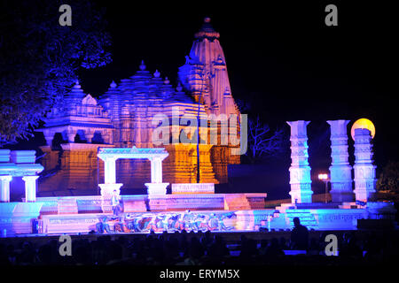 Khajuraho Dance Festival at temple background Madhya Pradesh India Asia - Stock Photo