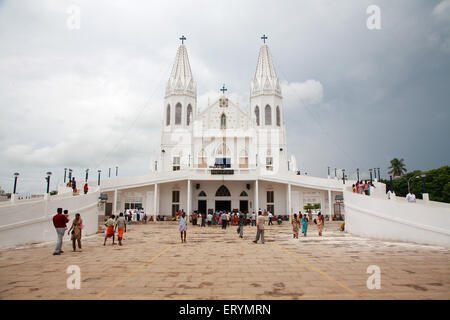 Church of our lady of good health called our lady of vailankanni ; Vailankanni  Velanganni ; Nagapattinam