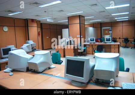 Interior of Income tax office at BKC Bandra Kurla Complex in Bombay Mumbai ; Maharashtra ; India - Stock Photo