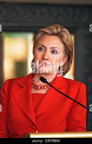 Hillary Diane Rodham Clinton is an American politician who served as the 67th United States Secretary of State - Stock Photo