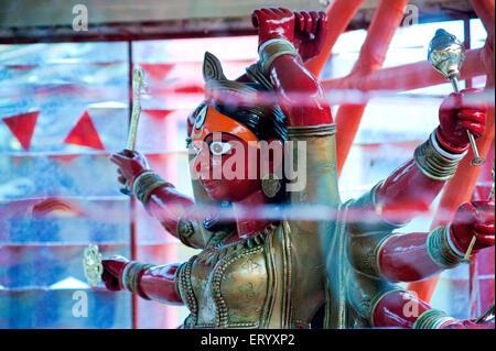 Mother goddess durga as bhima bahyankari ; Calcutta Kolkata ; West Bengal ; India - Stock Photo