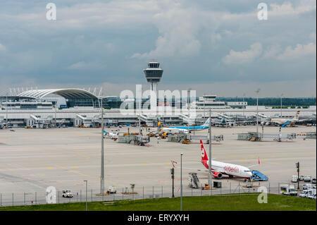 AirBerlin Plane on Munich Airport - Park Position - Stock Photo