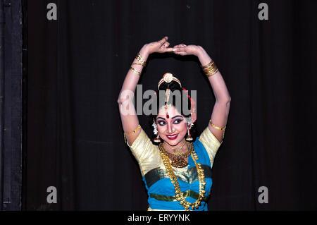Bharatnatyam dancer performing ; Calcutta Kolkata ; West Bengal ; India MR#775 - Stock Photo