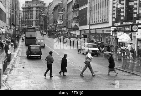 General scene of Lord Street Liverpool 6th January 1988 - Stock Photo