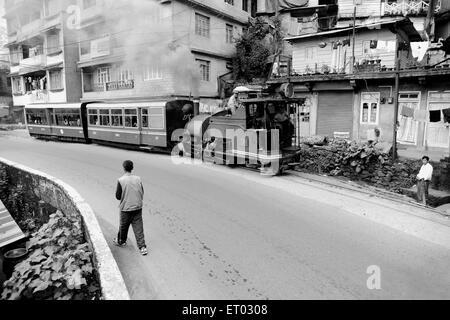 Toy train of Darjeeling Himalayan railway , West Bengal India , 2011 - Stock Photo
