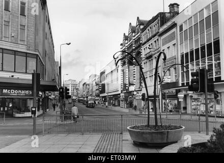 General scene of Lord Street Liverpool 15th October 1986 - Stock Photo