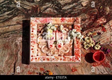 Feet of lord ; Jagdish temple ; Vishnu Mandir ; Udaipur ; Rajasthan ; India - Stock Photo