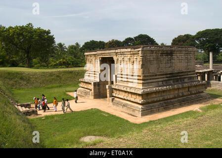 Underground Siva Prasanna Virupaksha temple in Hampi ; Karnataka ; India - Stock Photo