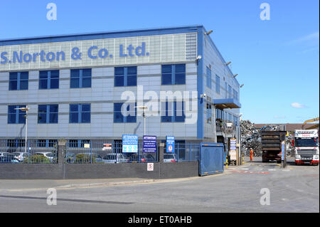 S.Norton & Co Ltd, Bankfield House, Bankfield Mil, Regent Road, Liverpool, L20 8RQ. - Stock Photo