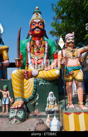 Village Guardian temple Muniappan in Dharmapuri ; Tamil Nadu ; India - Stock Photo