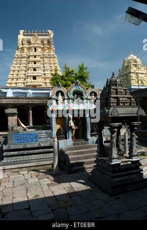 Sri Ekambaranathar Temples in  ; kanchipuram  ; kancheepuram  ; Tamil Nadu  ; India - Stock Photo