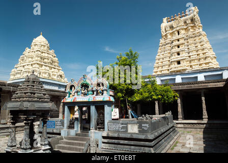 Sri Ekambaranathar Temples in  ; kanchipuram  ; kancheepuram  ; Tamil Nadu  ; India - Stock Photo