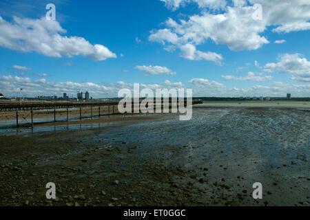 Hythe pier, Hampshire - Stock Photo