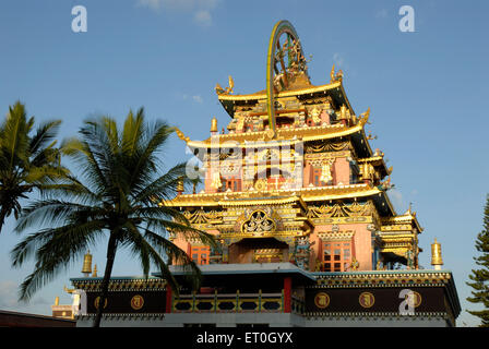 Namdroling monastery at Kushal nagar Coorg Karnataka India - Stock Photo