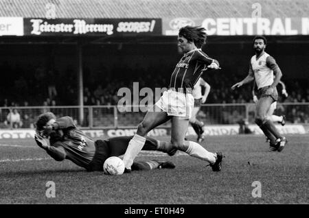 English League Division One match at  Filbert Street.  Leicester City 0 v Stoke City 0.  Leicester's Gary Lineker. - Stock Photo