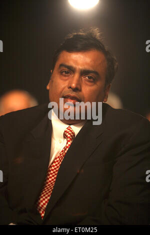 Mukesh Ambani ; Chairman and Managing Director of Reliance Industries Limited RIL Bombay - Stock Photo