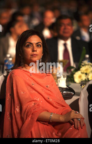 Neeta Ambani wife of Mukesh Ambani Chairman and Managing Director of Reliance Industries Limited RIL Mumbai - Stock Photo