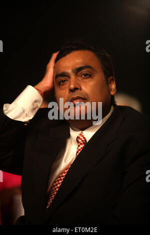 Mukesh Ambani ; Chairman and Managing Director of Reliance Industries Limited RIL Business Leader Award ; Bombay - Stock Photo