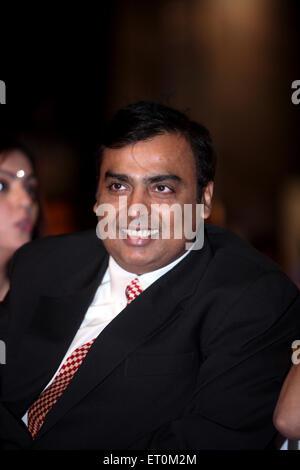 Mukesh Ambani with wife Neeta Ambani ; Chairman and Managing Director of Reliance Industries Limited RIL Mumbai - Stock Photo