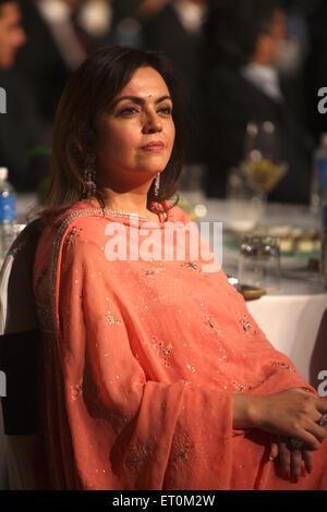 Neeta Ambani wife of Mukesh Ambani Chairman and Managing Director of Reliance Industries Limited RIL - Stock Photo