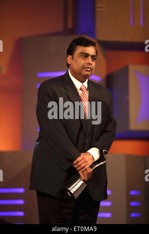 Mukesh Ambani Chairman and Managing Director of Reliance Industries Limited RIL after receiving outstanding company - Stock Photo