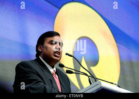 Mukesh Ambani Chairman and Managing Director of Reliance Industries Limited NOMR - Stock Photo