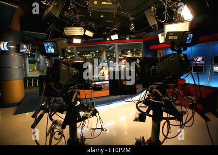 Newsroom of cnbc channel ; Bombay Mumbai ; Maharashtra ; India - Stock Photo