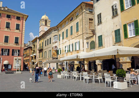 The village of Noli, Savoni province, Ligury, Italy - Stock Photo