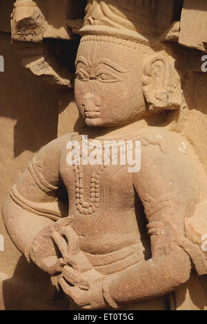 Statue engraved in Deval ; Mandore ; Jodhpur ; Rajasthan ; India - Stock Photo