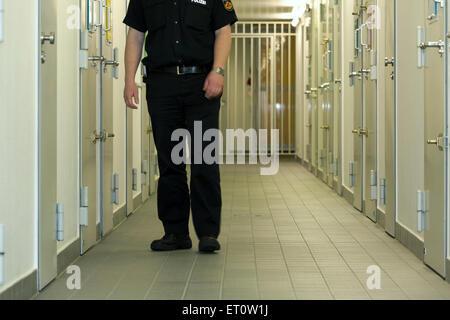 Bremen, Germany, detention, police custody in Vahr - Stock Photo