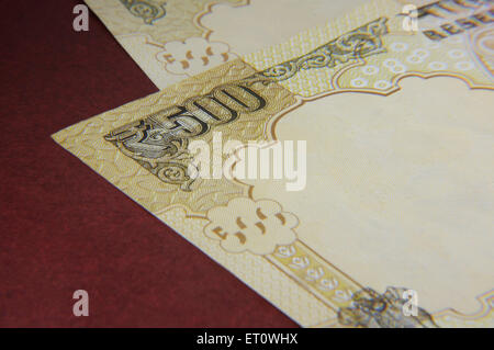 concept of Indian currency five hundred rupee note - Stock Photo