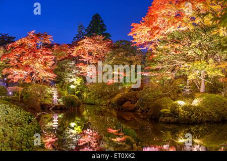 Nikko, Japan at Shoyo-en garden in the autumn. - Stock Photo