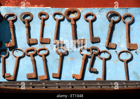Old keys ; Mattancherry ; Cochin Kochi ; Kerala ; India 2010 - Stock Photo