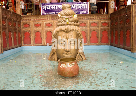 sculpture of hindu lord shiva in the dancing pose of