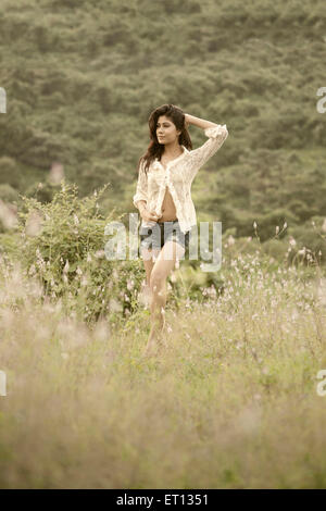 girl posing in forest MR#790 - Stock Photo