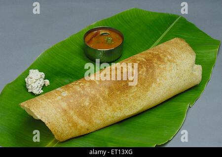 South Indian food Masala Dosa - Stock Photo
