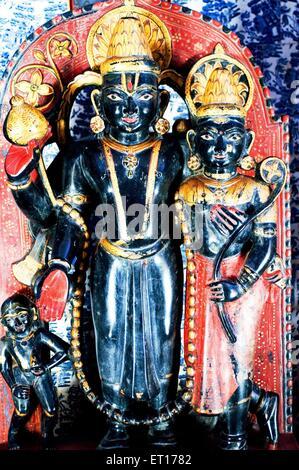 Idols of lakshmi vishnu in badal mahal palace in Junagarh fort ; Bikaner ; Rajasthan ; India - Stock Photo