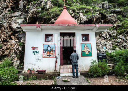 Shiv Gufa Temple Mashobra shimla himachal pradesh India Asia - Stock Photo