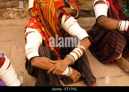 Rajasthani women , Jodhpur , Rajasthan , India - Stock Photo