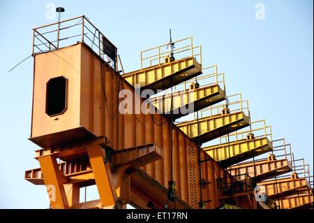 Under Construction Flyover bridge Lalbaug Mumbai Maharashtra India Asia - Stock Photo