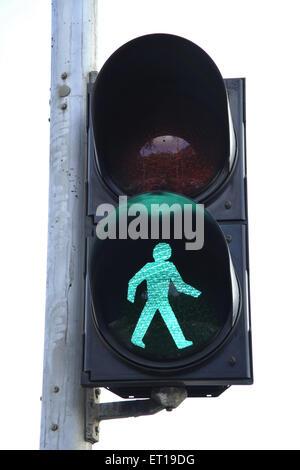 Traffic Signal Green Light India - Stock Photo