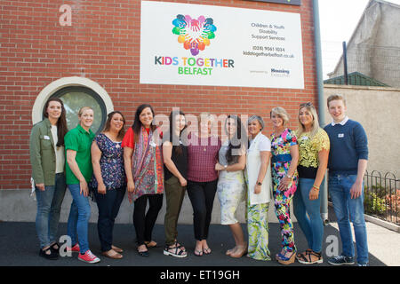 Belfast, UK. 10th June 2015 Patrick Crossan from BT who helped ...