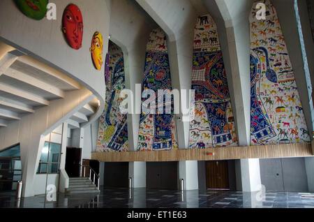 Gallery of Tagore Hall Ahmedabad India Asia - Stock Photo