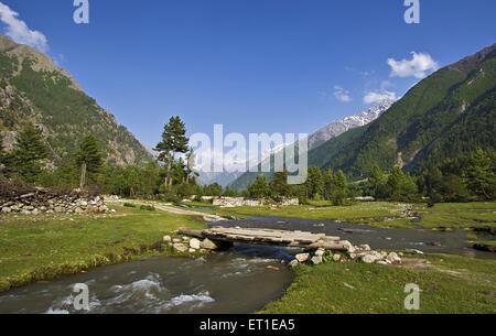 Chitkul Landscape Himachal Pradesh India - Stock Photo